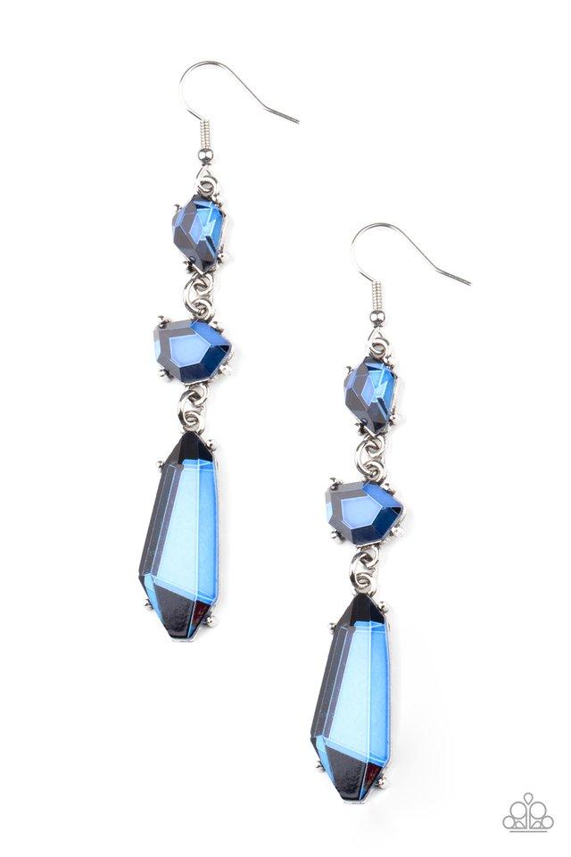 Sophisticated Smolder - Blue - Paparazzi Earring Image