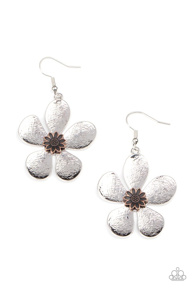 Fresh Florals - Silver - Paparazzi Earring Image