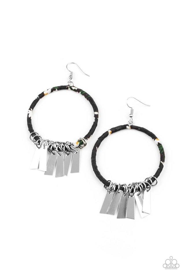 Garden Chimes - Black - Paparazzi Earring Image