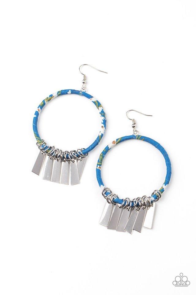 Garden Chimes - Blue - Paparazzi Earring Image