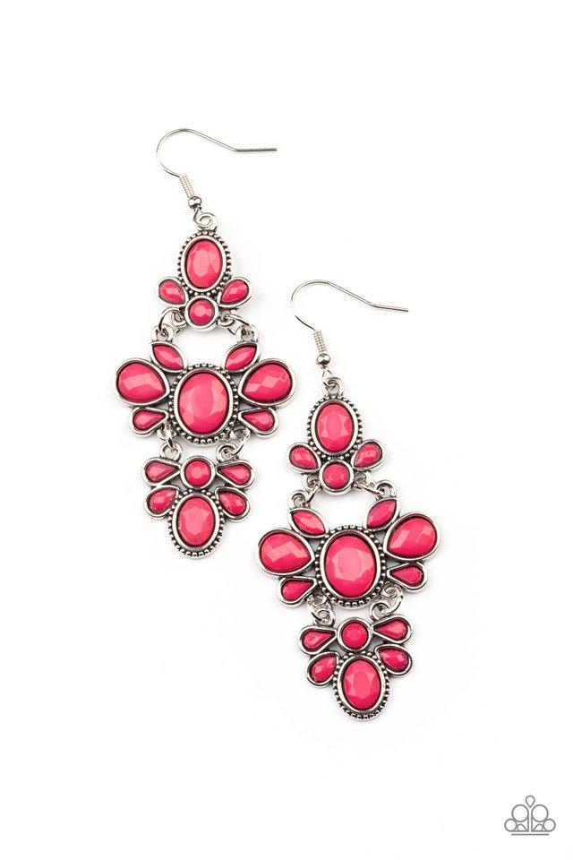 VACAY The Premises - Pink - Paparazzi Earring Image