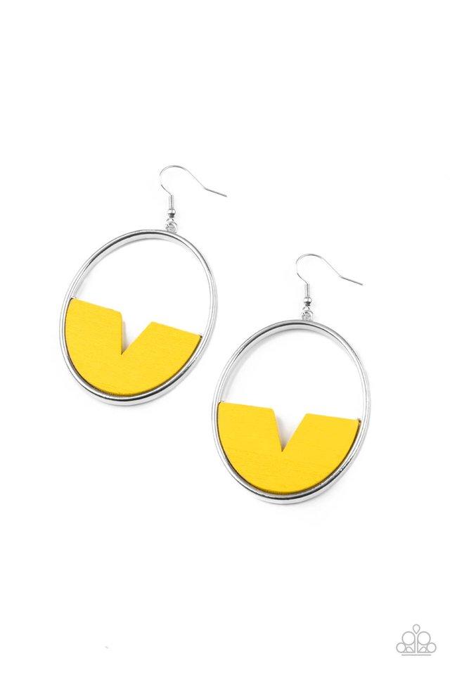 Island Breeze - Yellow - Paparazzi Earring Image