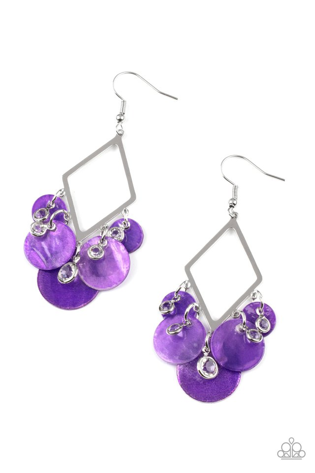 Pomp And Circumstance - Purple - Paparazzi Earring Image