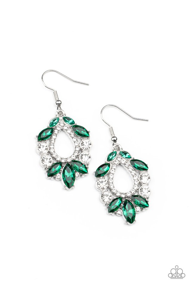 New Age Noble - Green - Paparazzi Earring Image
