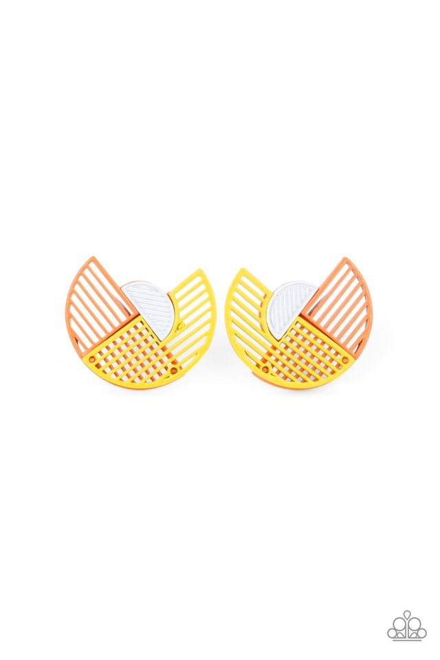 It's Just an Expression - Yellow - Paparazzi Earring Image