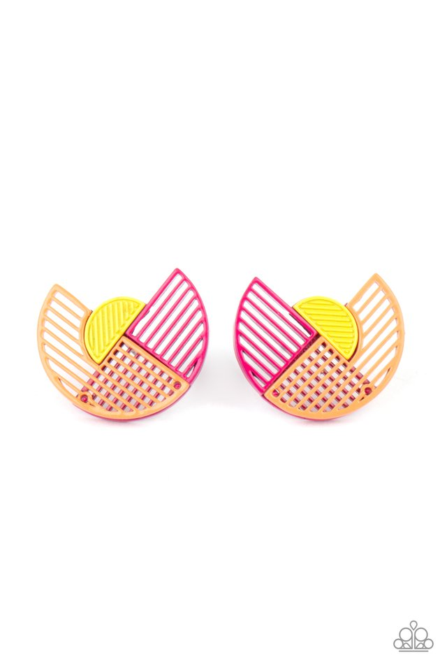 Its Just an Expression - Pink - Paparazzi Earring Image