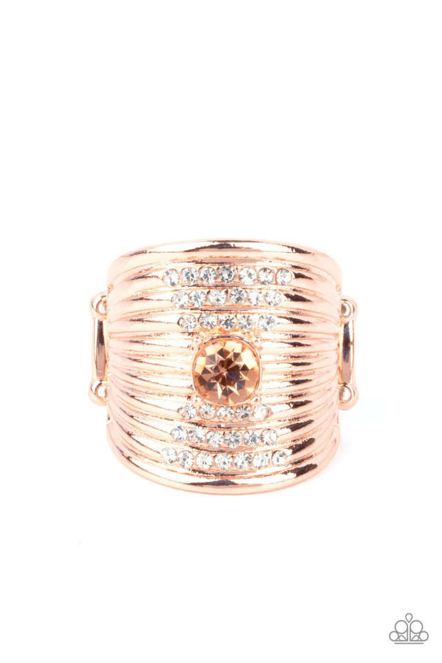Crystal Corsets - Copper - Paparazzi Ring Image