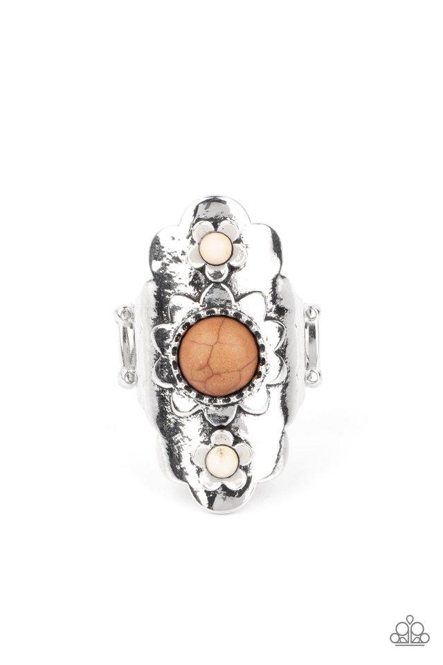 Badlands Garden - Brown - Paparazzi Ring Image
