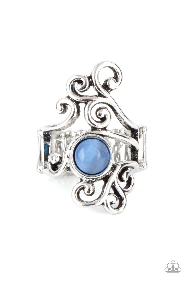 Glimmering Grapevines - Blue - Paparazzi Ring Image