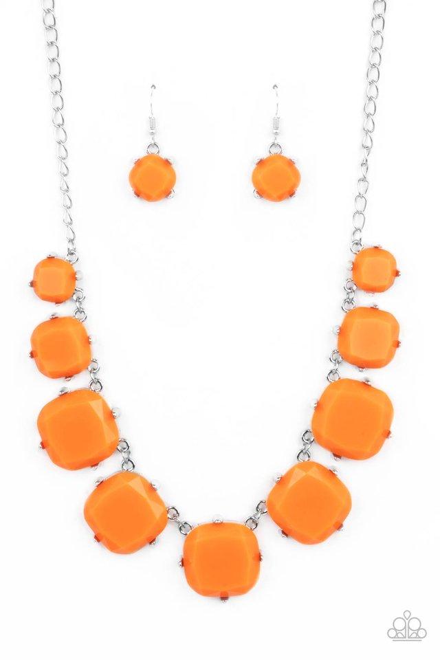 Prismatic Prima Donna - Orange - Paparazzi Necklace Image