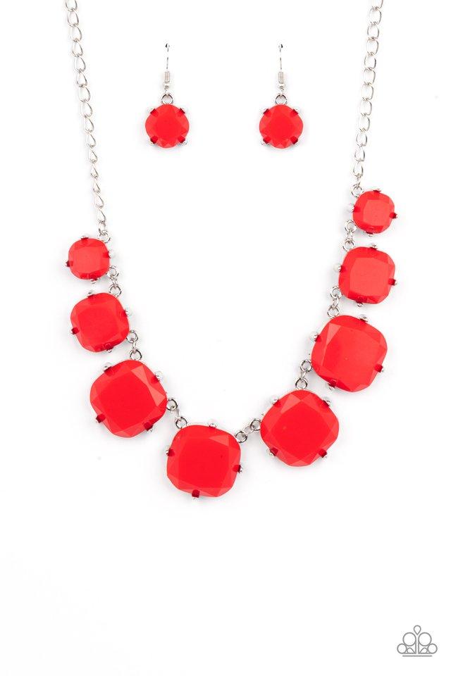Prismatic Prima Donna - Red - Paparazzi Necklace Image