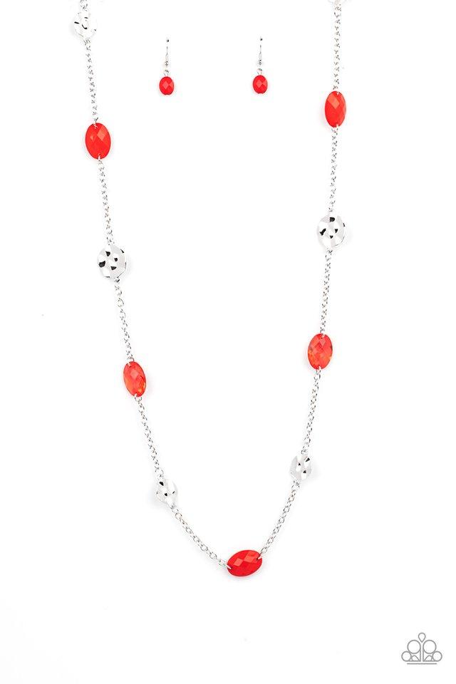 Glossy Glamorous - Red - Paparazzi Necklace Image