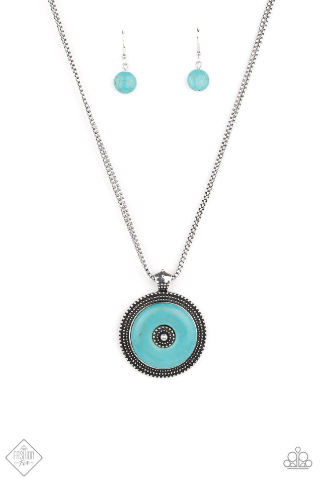 EPICENTER of Attention - Blue - Paparazzi Necklace Image