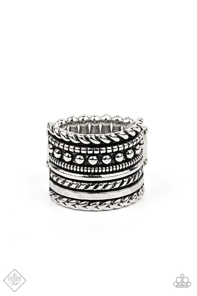 Stacked Odds - Silver - Paparazzi Ring Image
