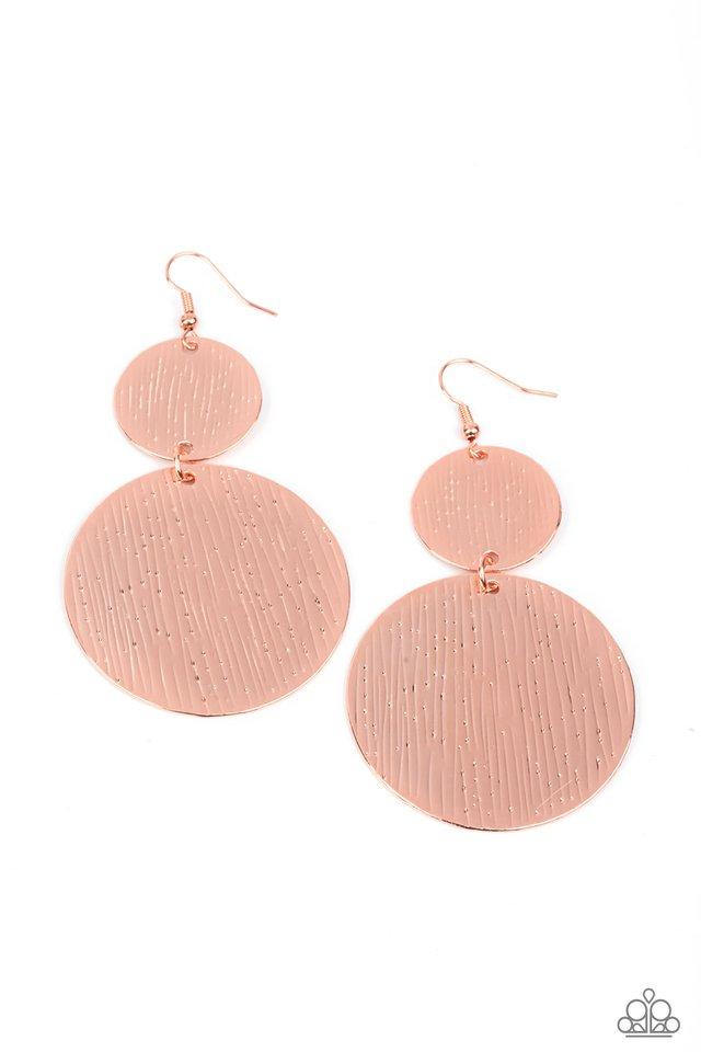 Status CYMBAL - Copper - Paparazzi Earring Image