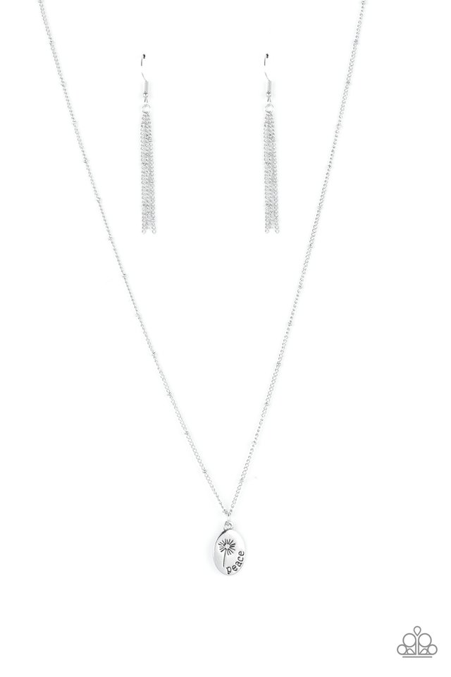 Be The Peace You Seek - Silver - Paparazzi Necklace Image