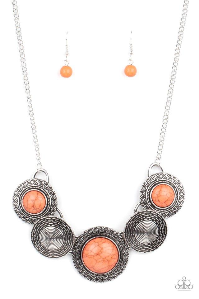 Canyon Cottage - Orange - Paparazzi Necklace Image