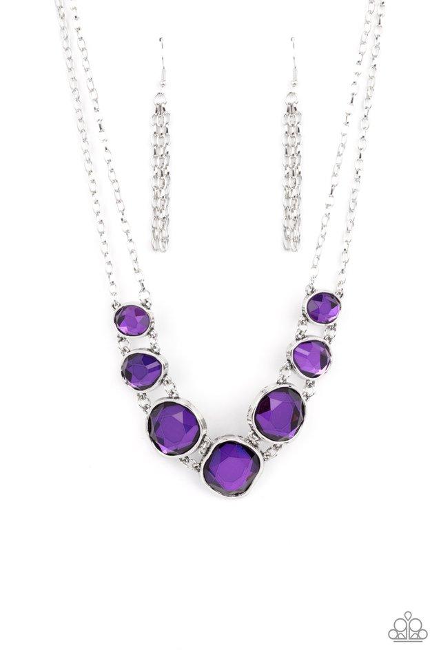 Absolute Admiration - Purple - Paparazzi Necklace Image