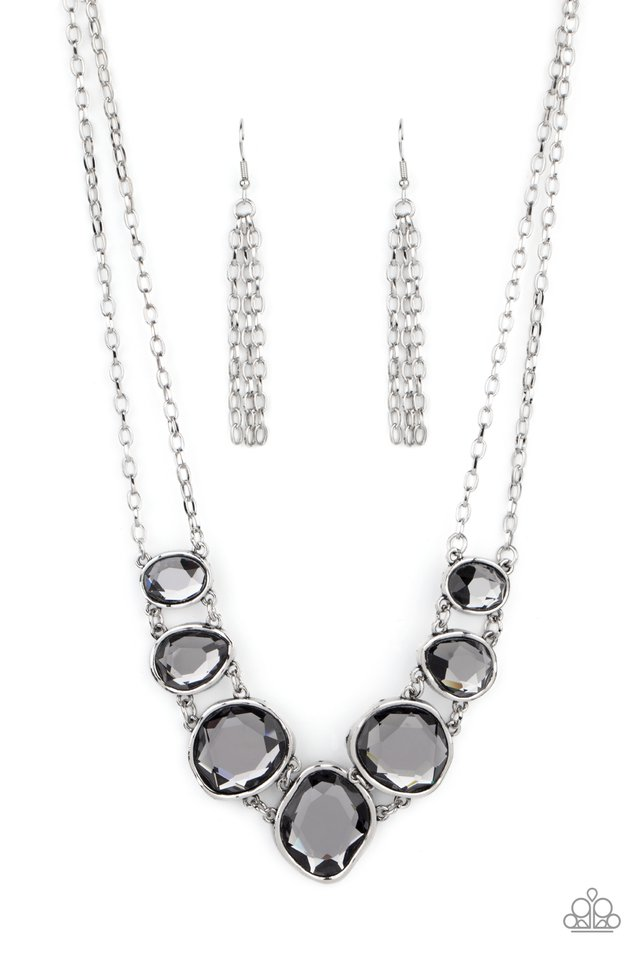 Absolute Admiration - Silver - Paparazzi Necklace Image