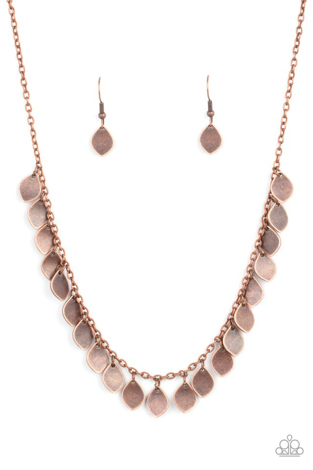 Dainty DISCovery - Copper - Paparazzi Necklace Image