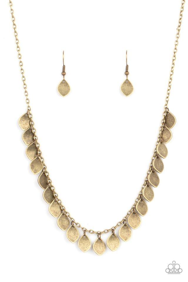 Dainty DISCovery - Brass - Paparazzi Necklace Image
