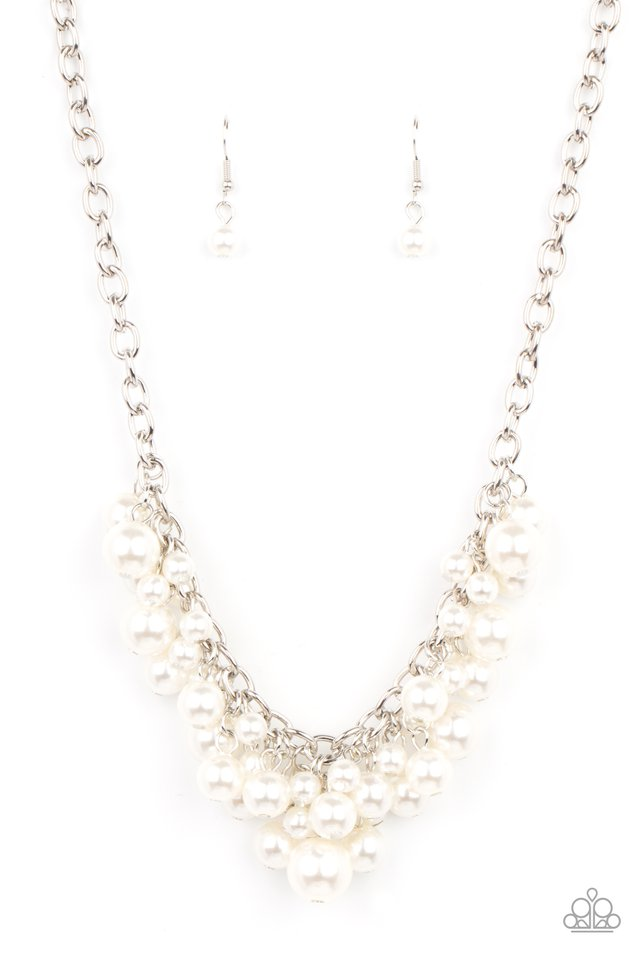 Down For The COUNTESS - White - Paparazzi Necklace Image