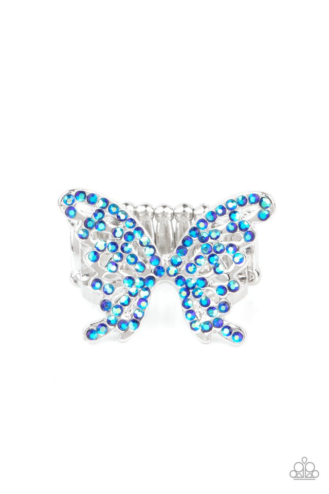Butterfly Orchard - Blue - Paparazzi Ring Image