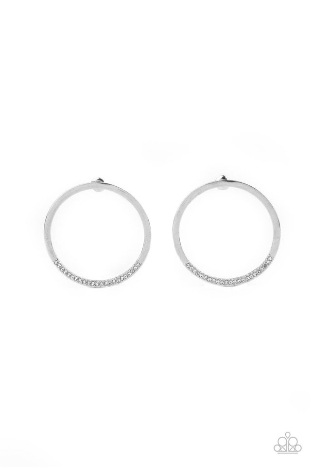 Spot On Opulence - White - Paparazzi Earring Image