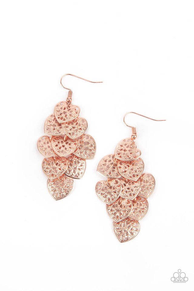 Shimmery Soulmates - Copper - Paparazzi Earring Image