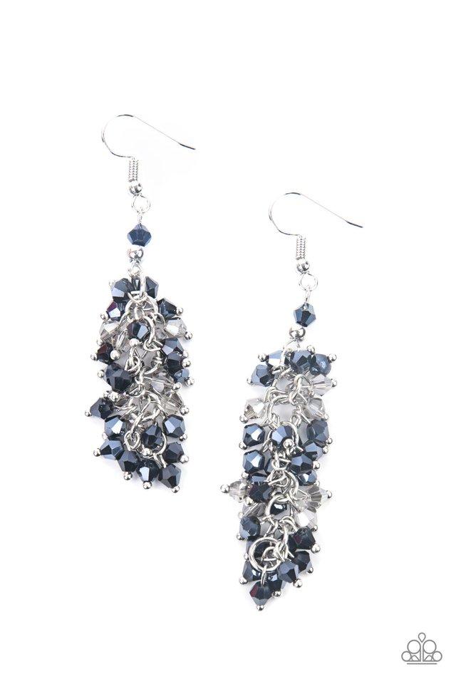 Celestial Chandeliers - Blue - Paparazzi Earring Image