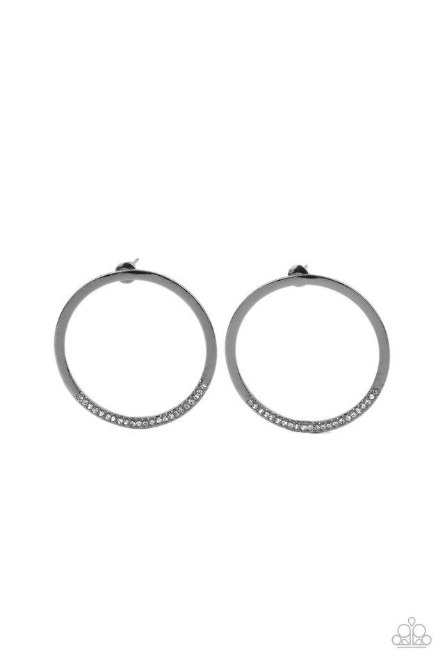 Spot On Opulence - Black - Paparazzi Earring Image