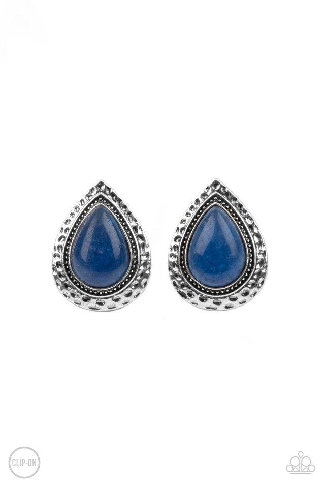 Desert Glow - Blue - Paparazzi Earring Image