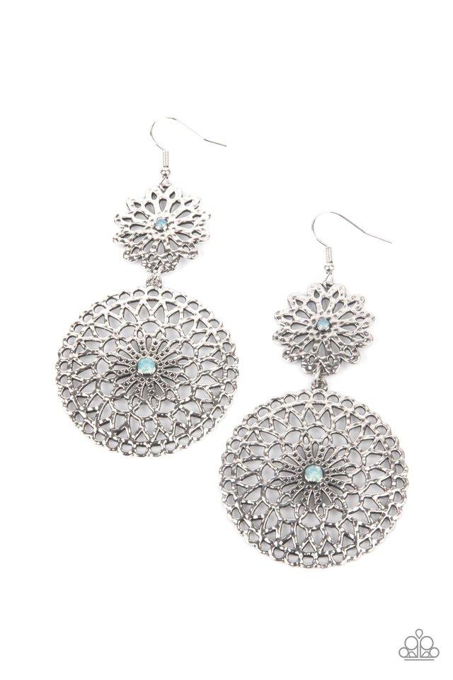 Garden Mantra - Blue - Paparazzi Earring Image
