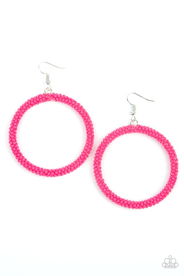 Beauty and the BEACH - Pink - Paparazzi Earring Image