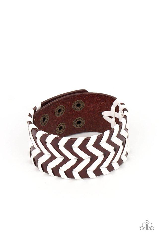 Biker Badlands - Brown - Paparazzi Bracelet Image