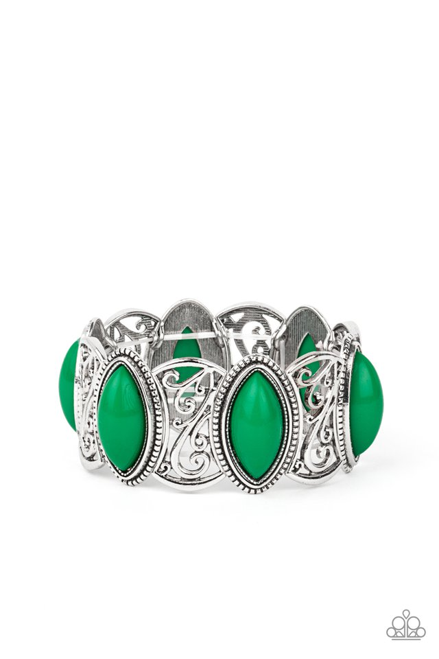 POP, Skip, and a Jump - Green - Paparazzi Bracelet Image