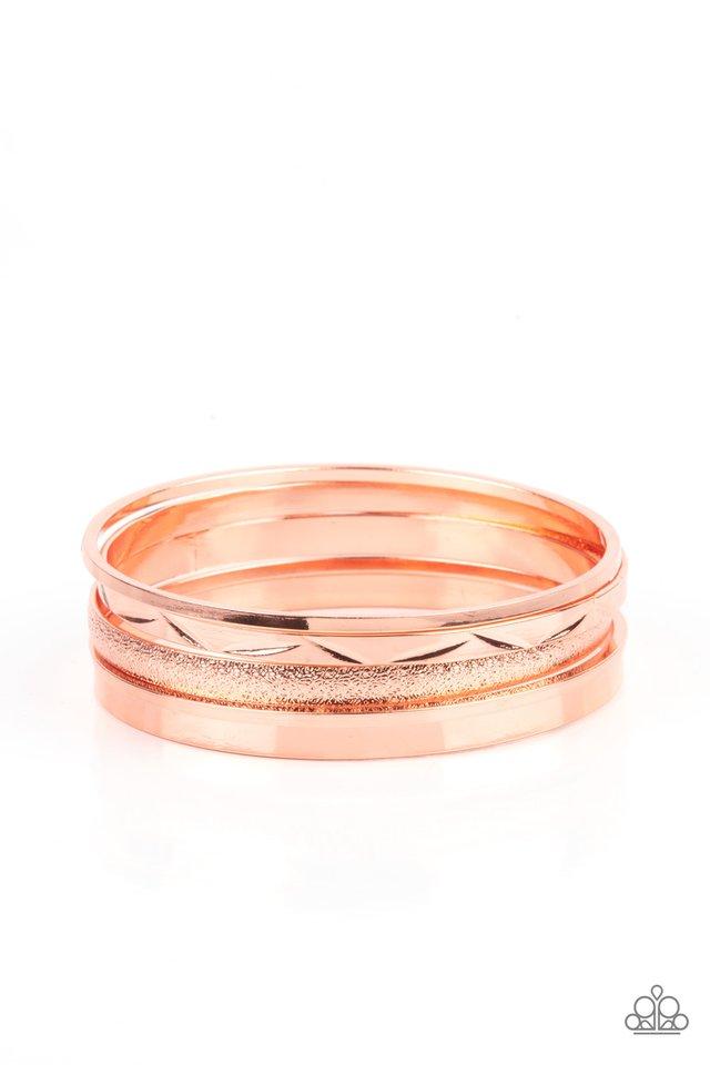 Stackable Style - Copper - Paparazzi Bracelet Image