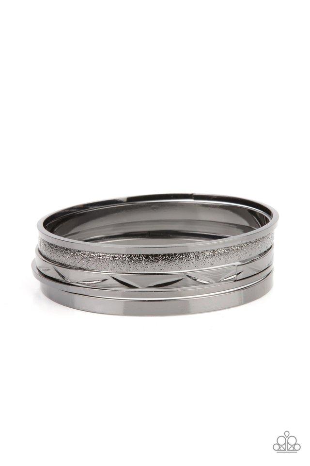 Stackable Style - Black - Paparazzi Bracelet Image