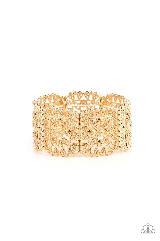 Enchanted Vineyards - Gold - Paparazzi Bracelet Image