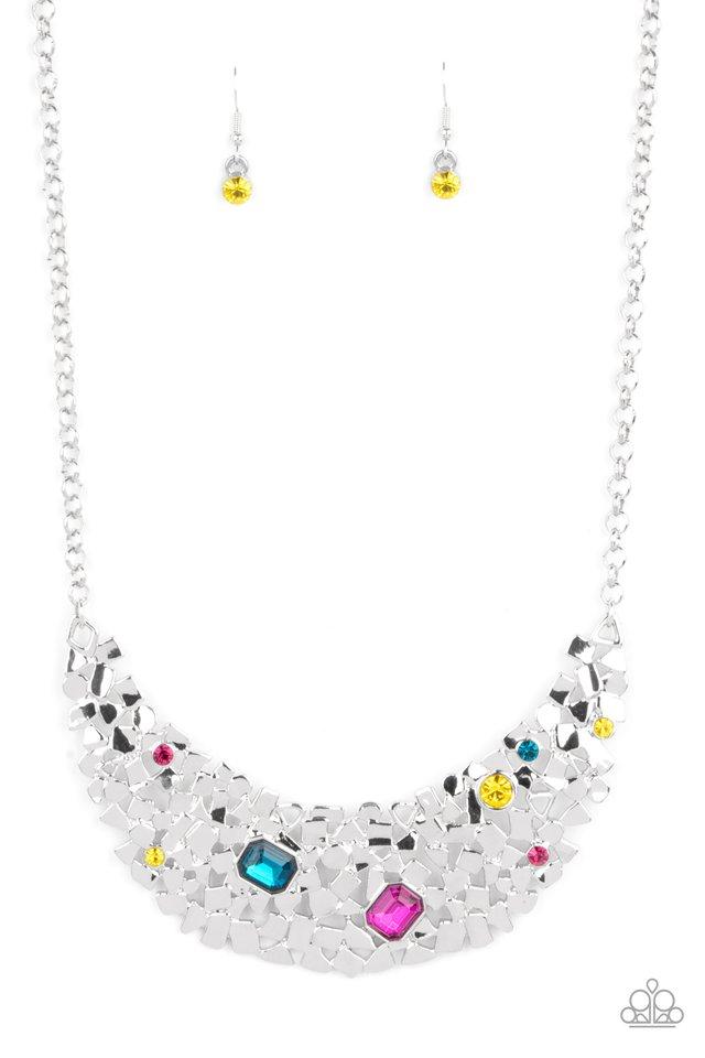 Fabulously Fragmented - Multi - Paparazzi Necklace Image