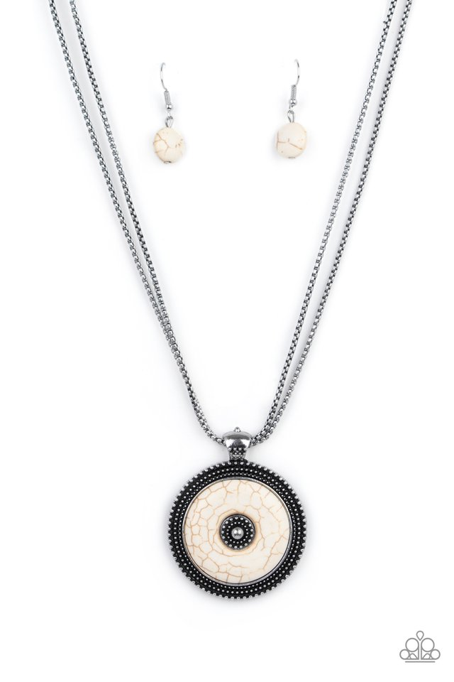 EPICENTER of Attention - White - Paparazzi Necklace Image