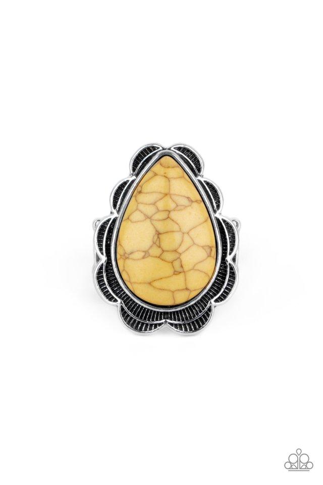BADLANDS Romance - Yellow - Paparazzi Ring Image