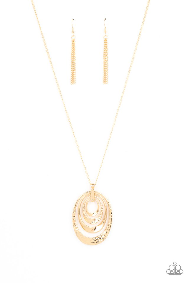 Smithsonian Spiral - Gold - Paparazzi Necklace Image