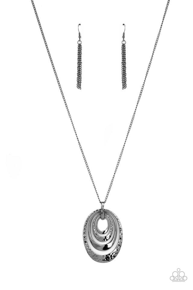 Renegade Ripples - Black - Paparazzi Necklace Image