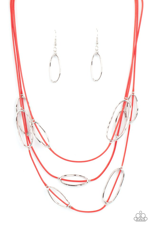 Check Your CORD-inates - Red - Paparazzi Necklace Image