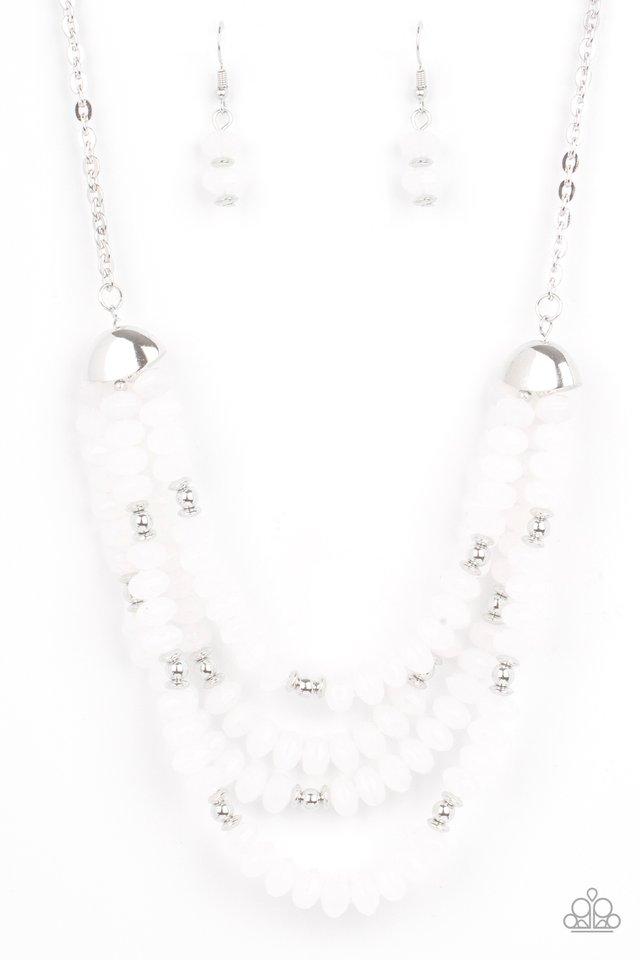 Best POSH-ible Taste - White - Paparazzi Necklace Image