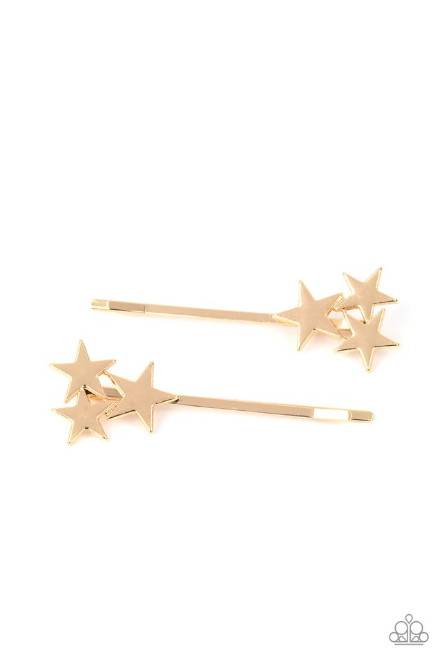 Suddenly Starstruck - Gold - Paparazzi Hair Accessories Image