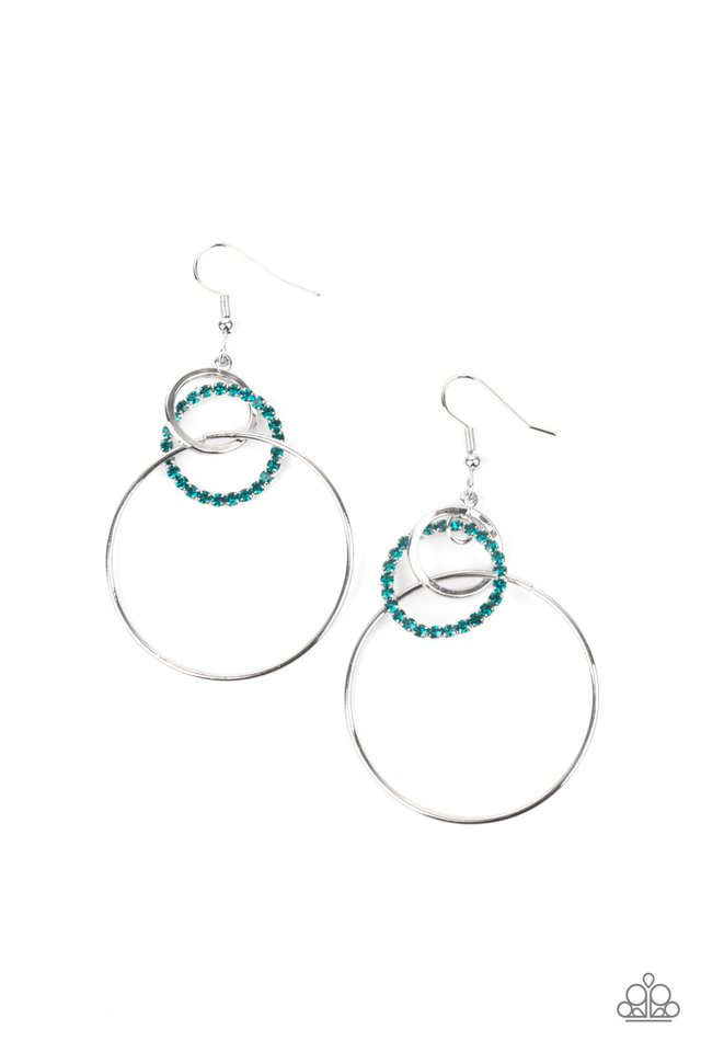 In An Orderly Fashion - Blue - Paparazzi Earring Image