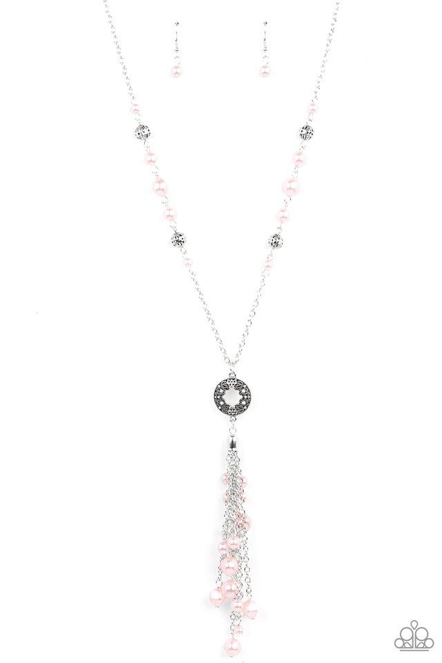 Tasseled Treasure - Pink - Paparazzi Necklace Image