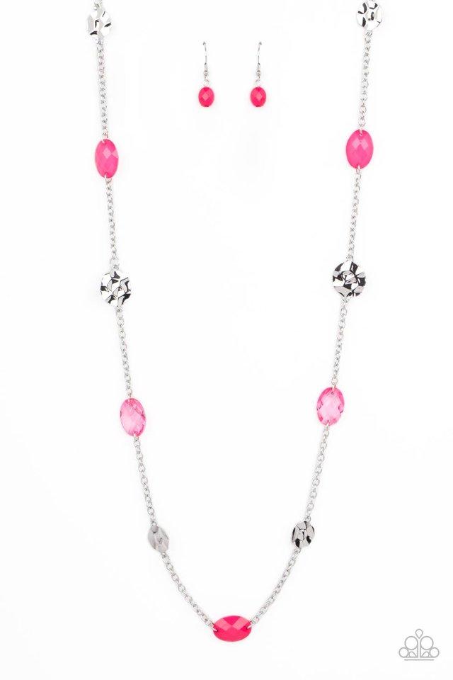 Glossy Glamorous - Pink - Paparazzi Necklace Image
